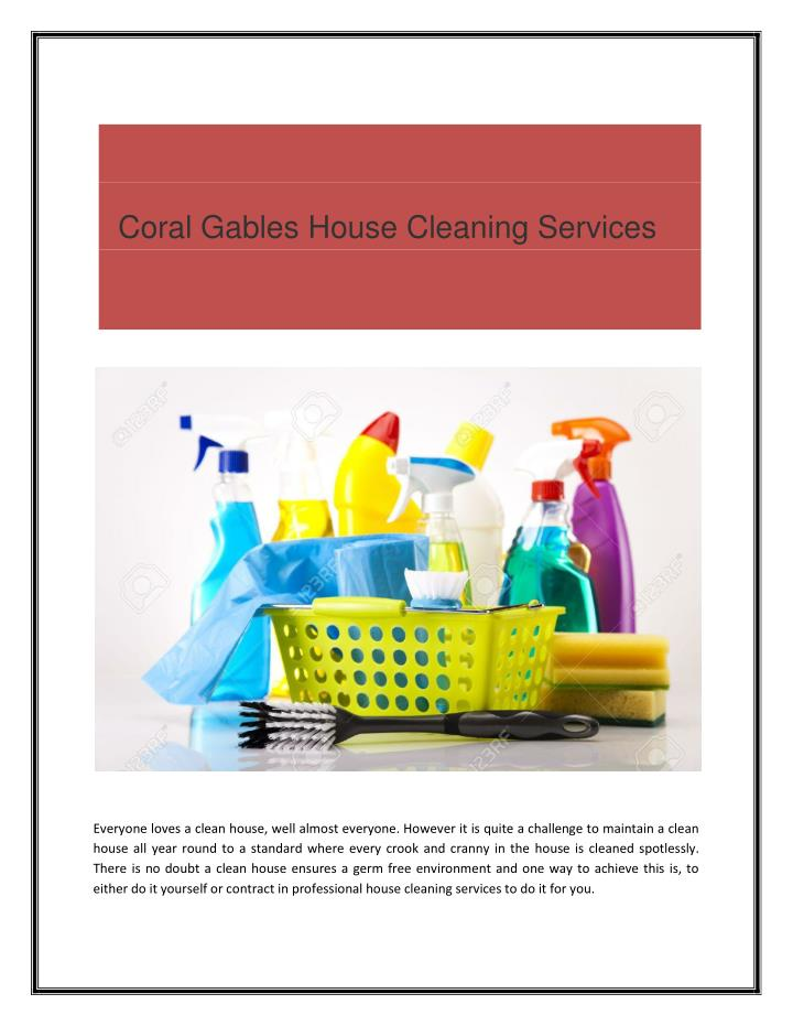 Coral Gables House Cleaning Services