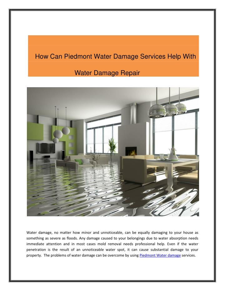 How Can Piedmont Water Damage Services Help With                                                    ...