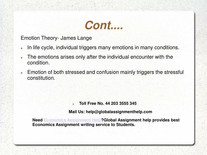 Emotion Theory- James Lange