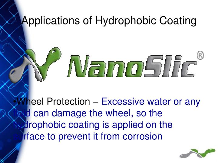 Applications of Hydrophobic Coating