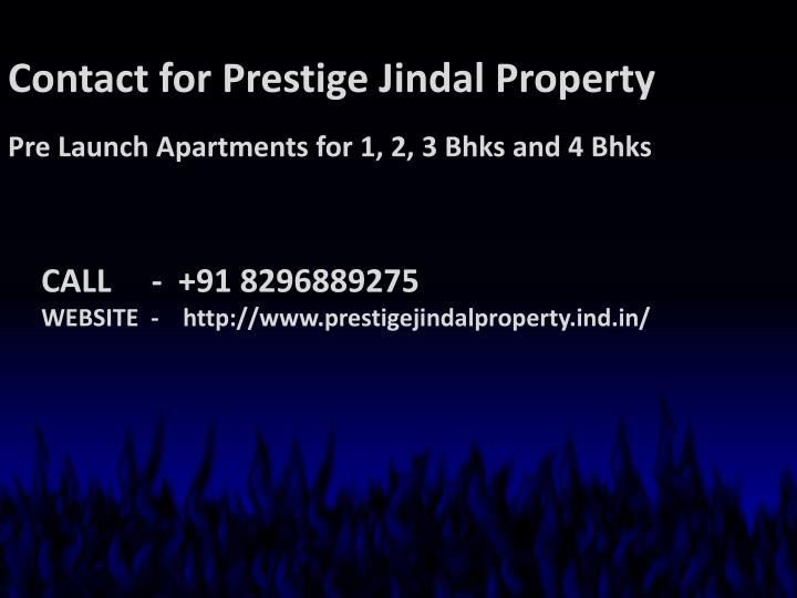 Contact for Prestige Jindal Property