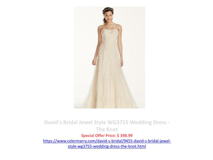 David's Bridal Jewel Style WG3755 Wedding Dress - The Knot