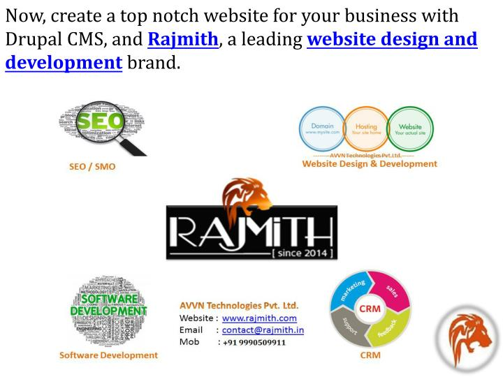 Now, create a top notch website for your business with