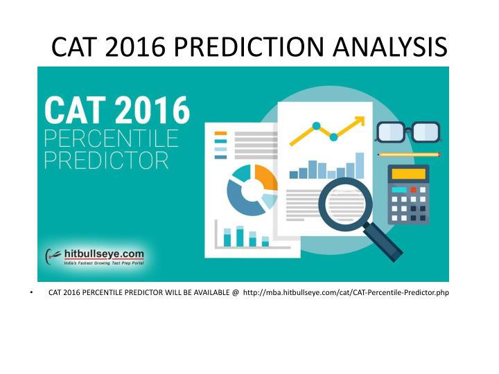CAT 2016 PREDICTION ANALYSIS
