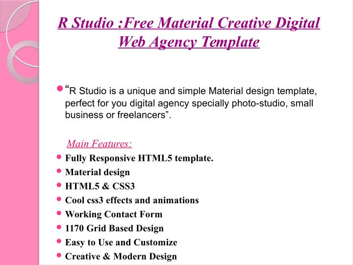 R Studio :Free Material Creative Digital