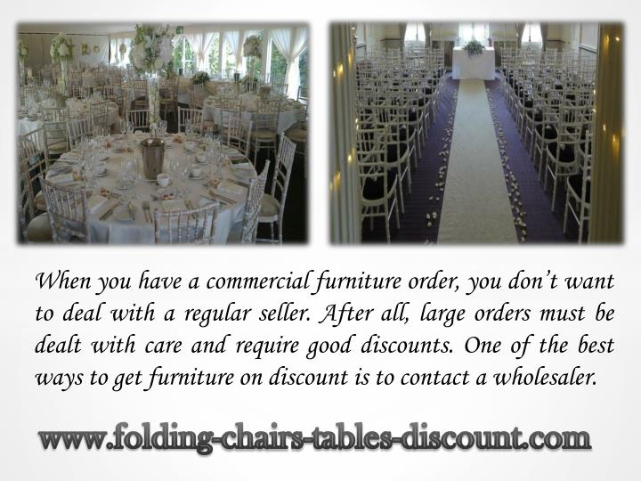 When you have a commercial furniture order, you don't want to deal with a regular seller. After al...