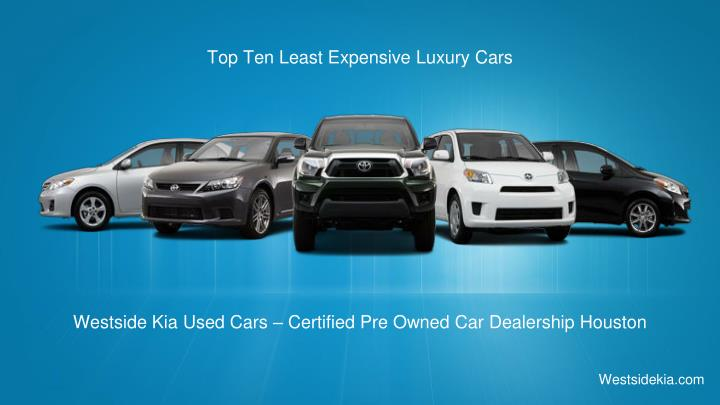 Top Ten Least Expensive Luxury Cars