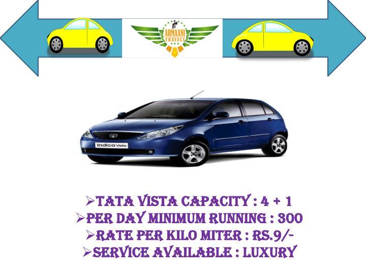 Tata Vista Capacity : 4 + 1
