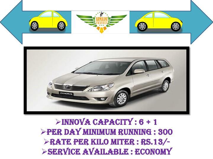 Innova Capacity : 6 + 1