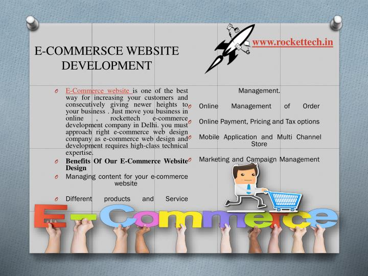 E-COMMERSCE WEBSITE DEVELOPMENT