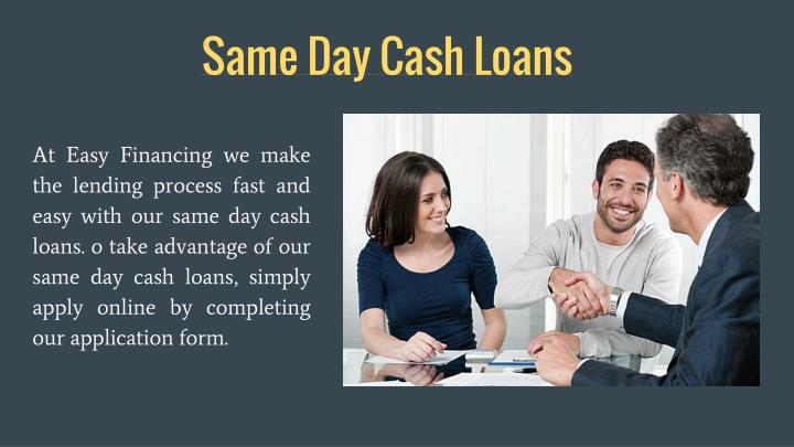 Same Day Cash Loans