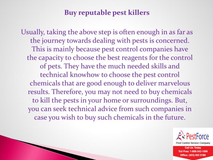 Buy reputable pest