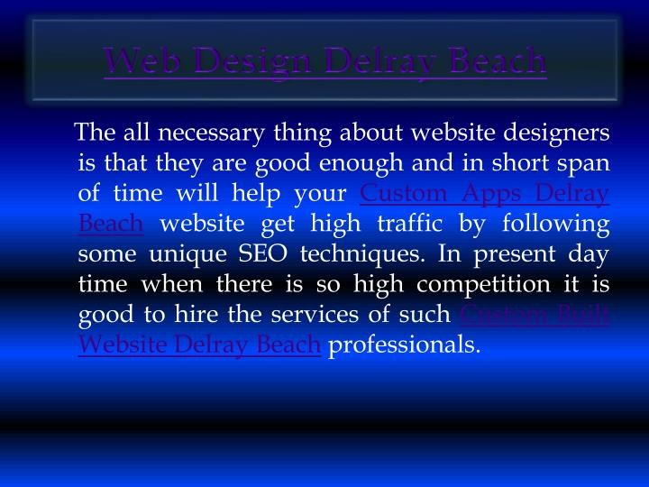 Web Design Delray Beach