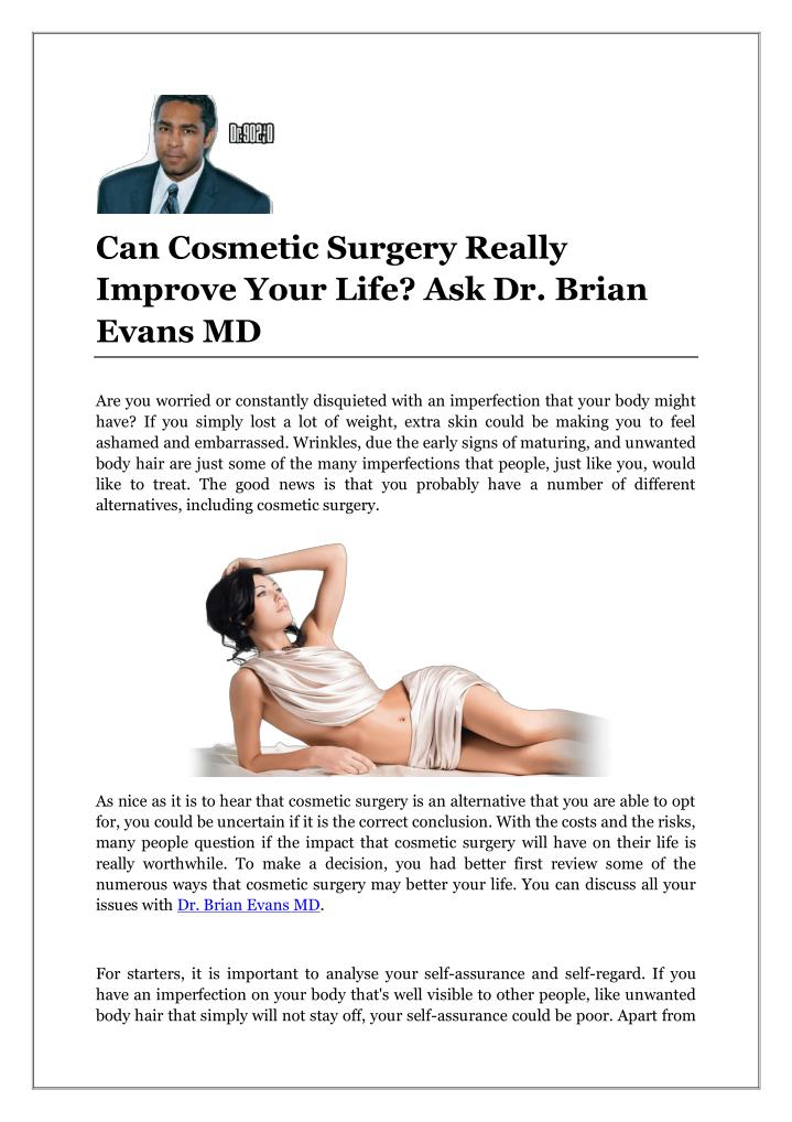 Can Cosmetic Surgery Really