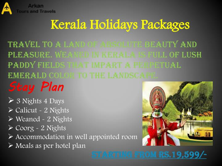 Kerala Holidays Packages
