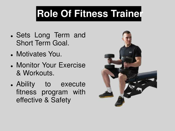 Role of fitness trainer