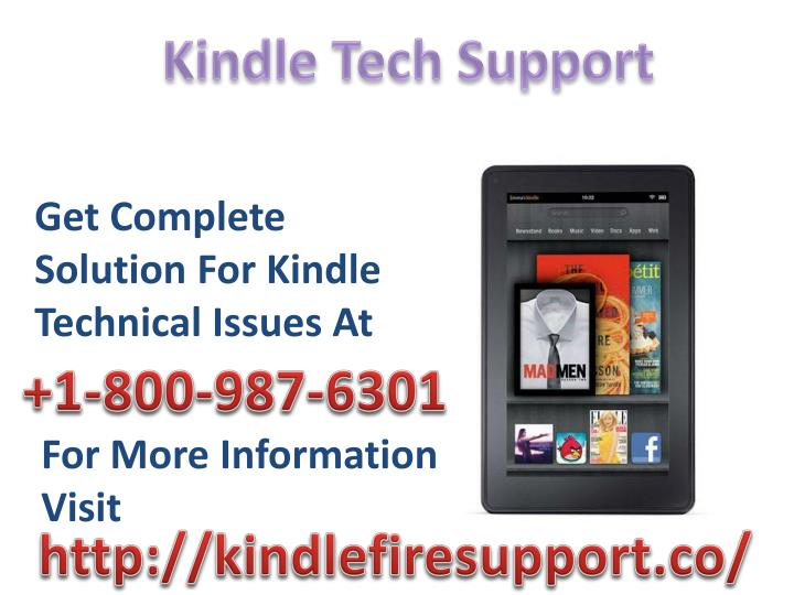 Kindle Tech Support