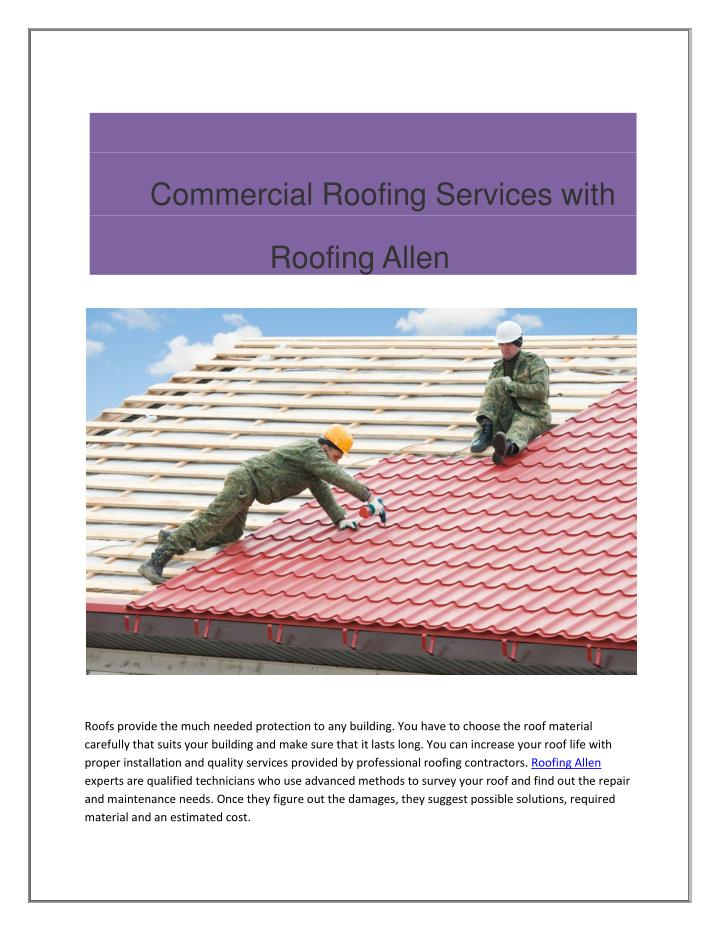 Commercial Roofing Services with