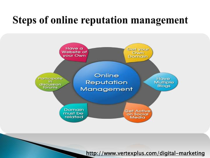 Steps of online reputation management