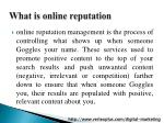 what is online reputation