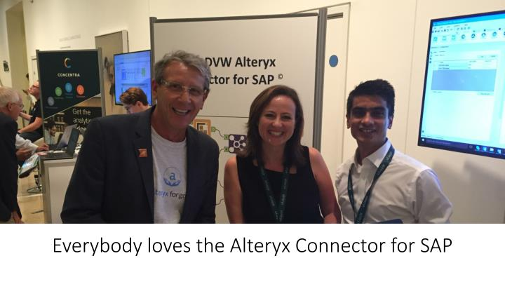 Everybody loves the Alteryx Connector for SAP