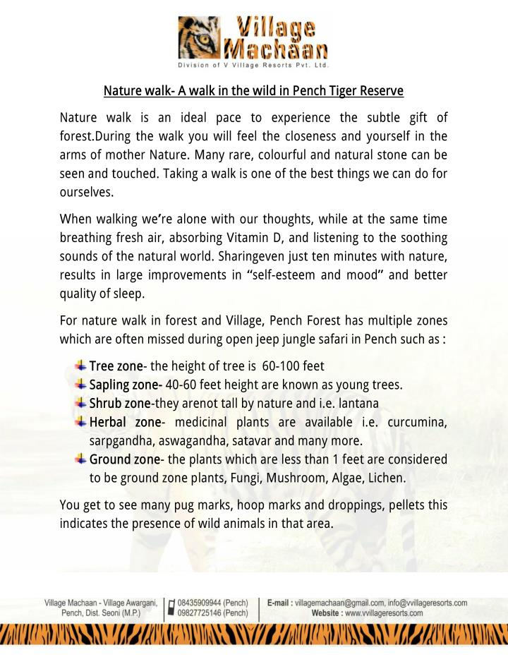 Nature walk- A walk in the wild in Pench Tiger Reserve