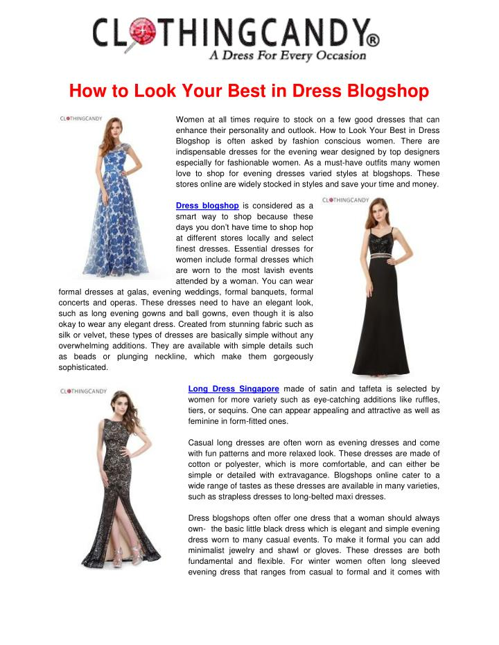 How to Look Your Best in Dress Blogshop