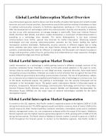 global lawful interception market Technavio analysts forecast the global lawful interception market to grow at a cagr of over 24% during the forecast period, according to their latest.