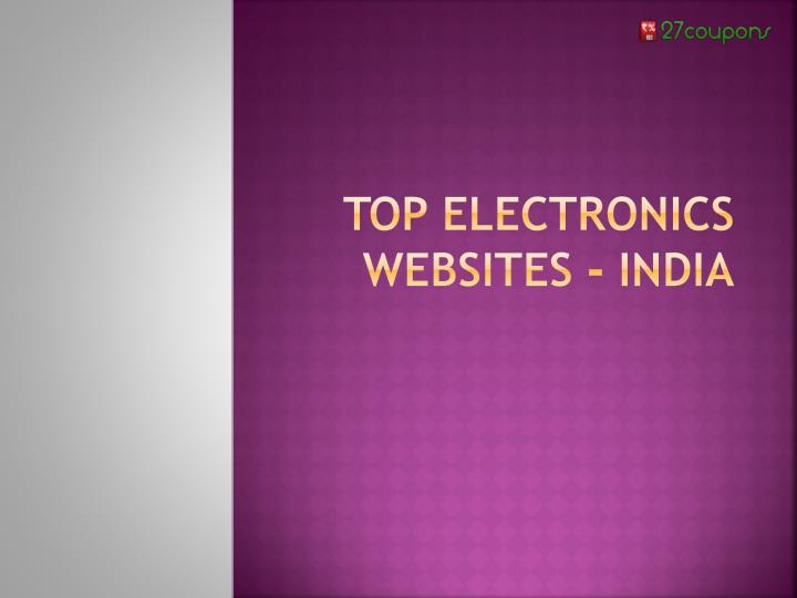 best electronic sites
