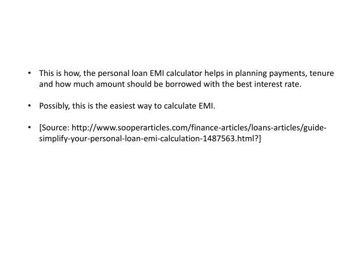 Hdfc Personal Loan Interest Rate Eligibility Emi Calculator | Upcomingcarshq.com