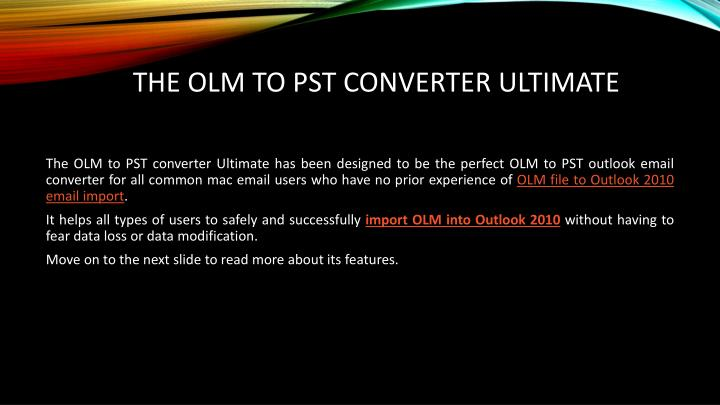 Olm to pst converter ultimate