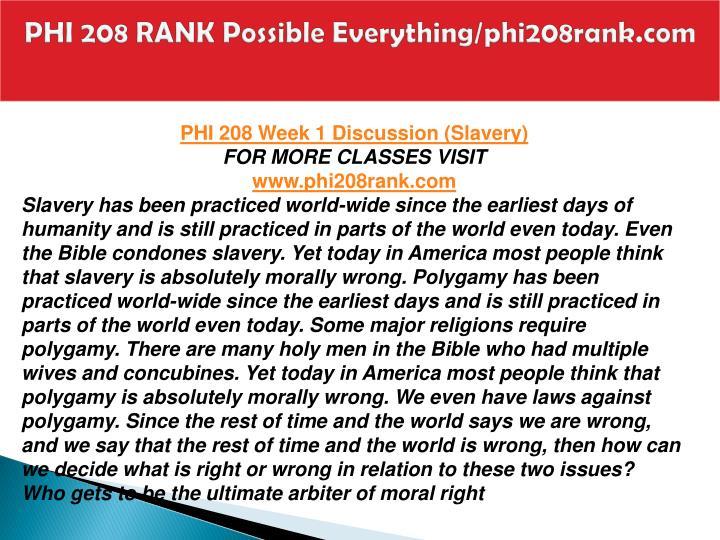 PHI 208 Week 2 Media Quiz