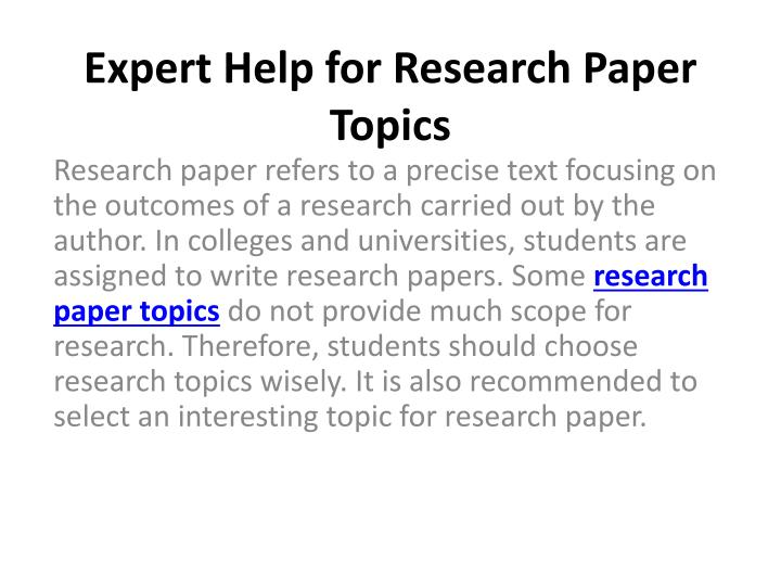 Research paper experts