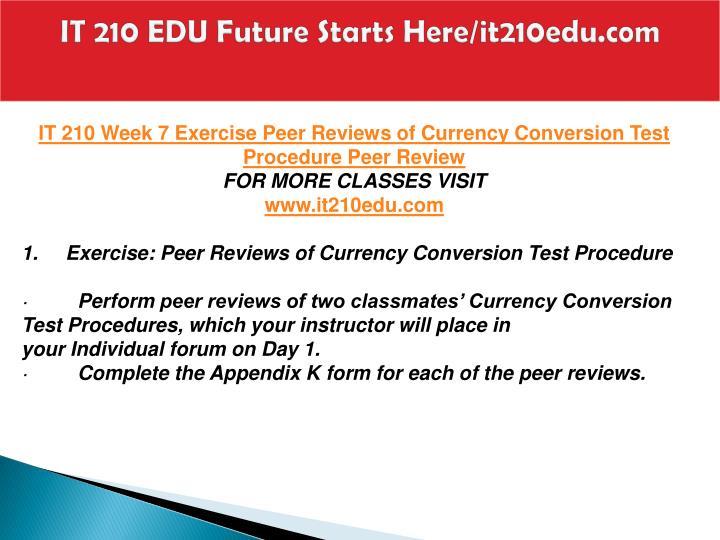 peer reviews of currency conversion test procedure