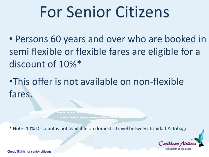 senior citizen fare in flight