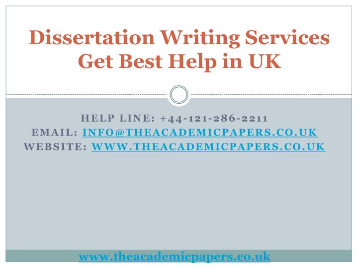Uk dissertation writing online