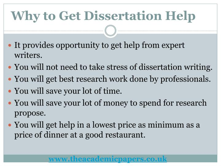 Get help writing a dissertation london