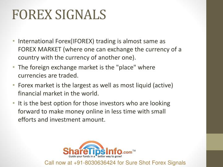 International forex trading signals