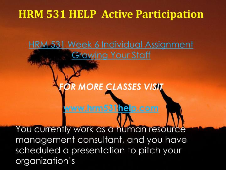 hrm 531 week 6 reflection Uop assignment help is available for hrm/531 human capital management   this session is also 6 weeks, where a student has to work on a reflection paper,.