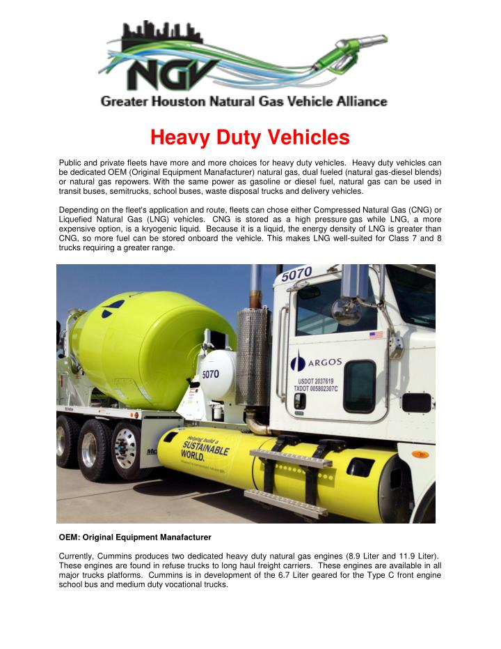 Natural Gas Vehicles PowerPoint Presentation