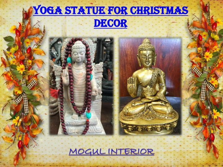 YOGA STATUE FOR CHRISTMAS DECOR PowerPoint