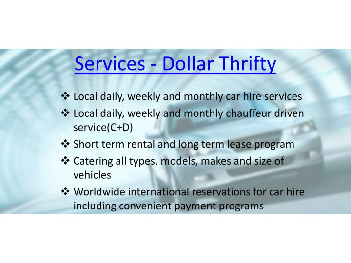 Thrifty Car Rental  Hour Customer Service