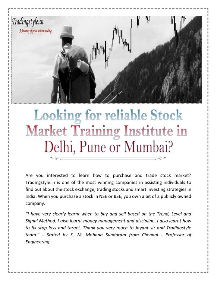Forex trading training in pune