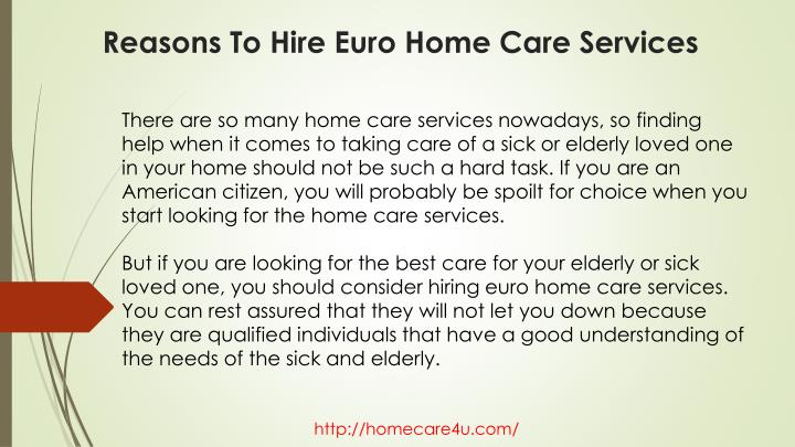 ppt reasons to hire home care services powerpoint