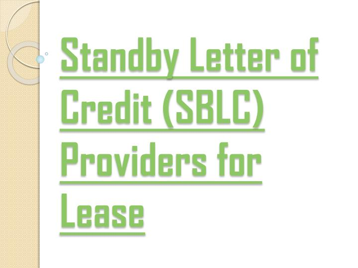 ppt the hanson group of companies sblc providers for With letter of credit service providers