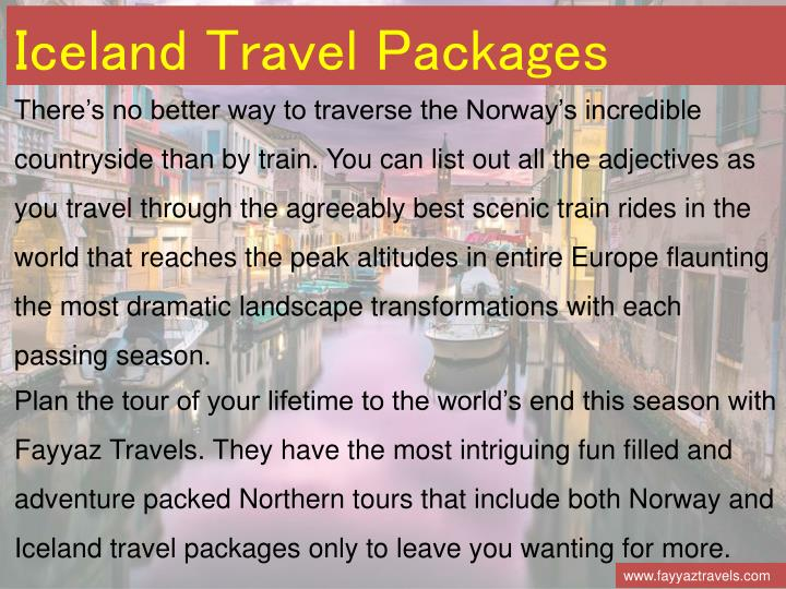 Iceland Travel Packages