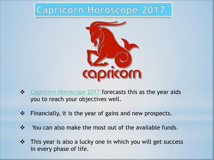 Capricorn Horoscope 2017