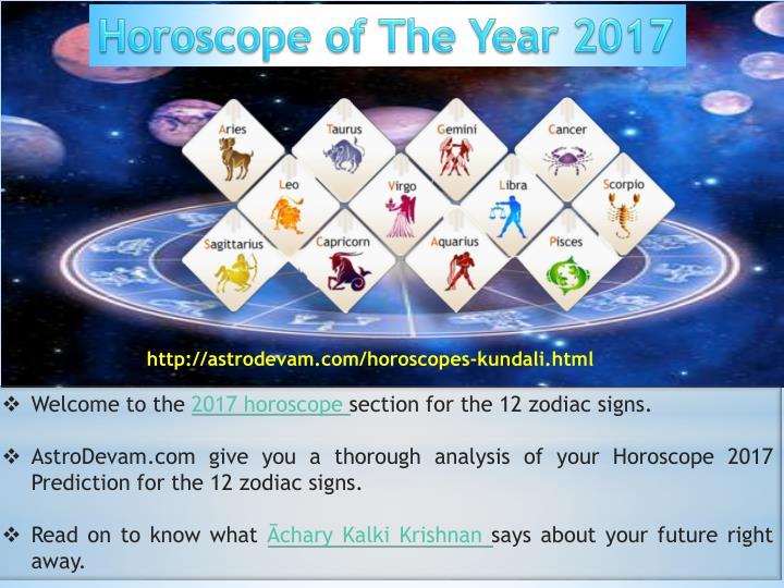 Horoscope of The Year 2017