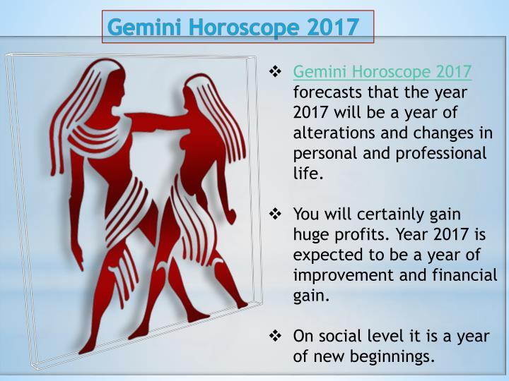 Gemini Horoscope 2017