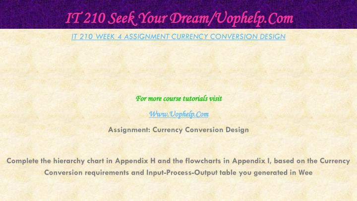 currency conversion design it 210
